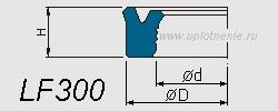 Профиль воротниковой манжеты LF300