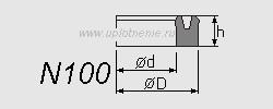 Профиль воротниковой манжеты N100