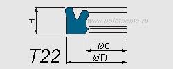 Профиль воротниковой манжеты T22